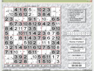 Erzeugen, spielen, eingeben, lösen und ausdrucken beliebig vieler 12erSudokus.