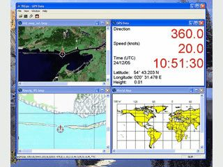 GPS Navigator zeigt Ihnen GPS Daten für eingescannte Landkarten an