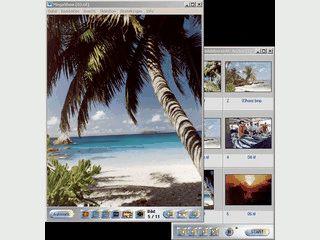 Bildbetrachter mit Archivierung, Effekten, Scanfunktion usw.