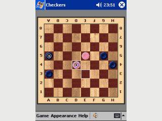 Der Brettspielklassiker Dame in vier verschiedenen Spielvariationen
