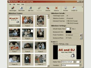 Erstellung von Slideshows die direkt auf CD oder DVD gebrannt werden können