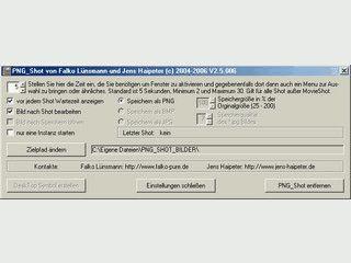 Screenshots vom Desktop erstellen. Einzelbilder aus MPEG Videos speichern.