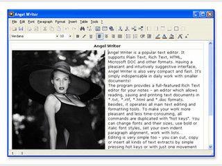 Komplette Textverarbeitung mit umfangreicher Funktionalität.