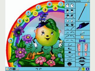 In diesem Spiel können Kinder, Gesichter aus einzelnen Teilen erstellen.