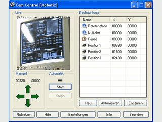 Ein Steuerungsprogramm für Mobotix Kameras ohne Positionierungsschnittstelle