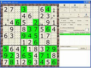 Netzwerk-Variante von Sudoku für bis zu 8 Spieler die gegeneinander spielen.