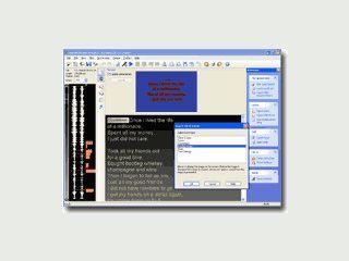 Karaoke Software zur Erstellung von CD+G Karaokesongs.
