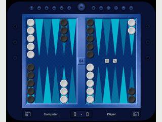 Backgammon gegen den Computer. Vielfältige optische Einstellungen