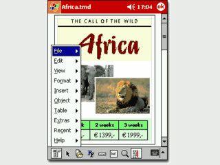 Textverarbeitung mit allen erdenklichen Funktionen für PDAs