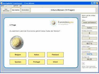 Interaktives Quiz zu den nationalen Seiten der Euromünzen mit Bestenliste