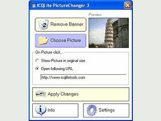 Kleines Tool um die Werbung  in ICQ 5 durch ein eigenes Bild zu ersetzen.
