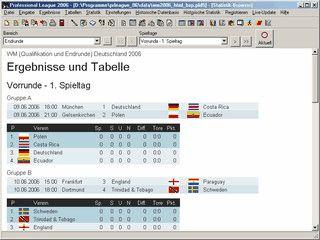 Liga- und Turnierverwaltung für beliebige Sportarten mit vielen Funktionen