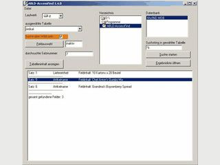 Ermöglicht die erweiterte Suche innerhalb von MS Access Datenbanken.