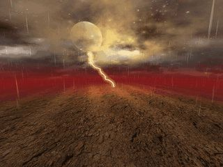Gewitter mit Regen, Blitz und Donner