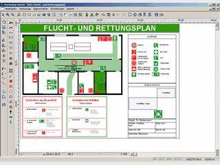 Software zur Erstellung von Fluchtplänen, Feuerwehrplänen.