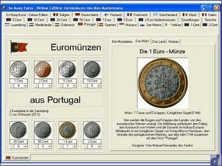 Software für Sammler von Euromünzen.