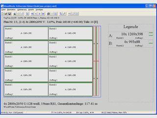 WoodWorks dient der Optimierung rechtwinkeliger Plattenzuschnitte