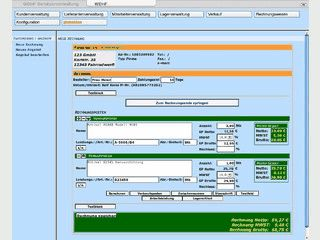 Webbasierte Faktura mit Artikelverwaltung, Kassenbuch usw.