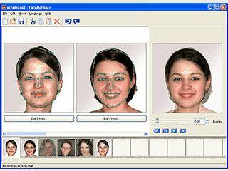 Animationen aus Morphing-Sequenzen von Gesichtern erstellen.