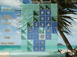 Kakuro Beaches erinnert an Sudoku, ist jedoch um einiges schwerer.