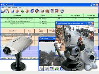 Software für die Aufnahme von Videos via Webcam usw. Mit Bewegungsmelder.