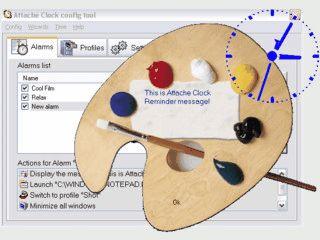 Durchsichtige Analoguhr bei der Sie Größe und Farbe frei einstellen können.