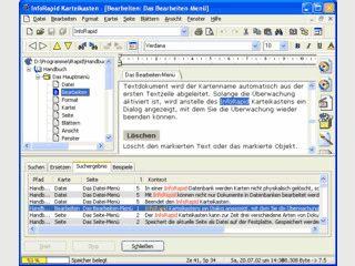 Karteikastensystem zur Verwaltung von Text- und Bilddokumenten