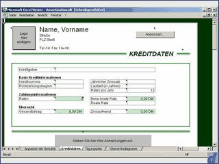 Excel Arbeitsmappen öffnen, anzeigen und drucken.