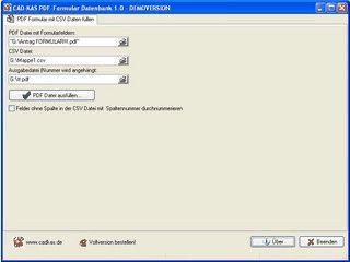 Formularfelder einer PDF Datei mit Datensätzen einer CSV Datei füllen.