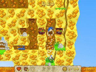 Labyrinth-Spiel. Helfen Sie Carl alle Pilze und Schatzkisten einzusammeln.