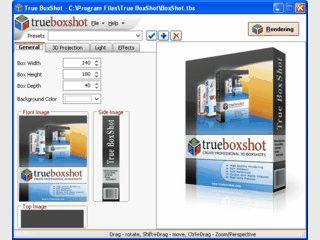 Software zum Erstellen von so genannten Boxshots für Software-Hersteller.