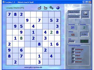 Rätselspiel nach Art des traditionellen, japanischen Sudoku