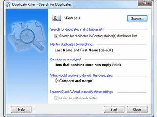 Tool zum Entfernen von doppelten Daten in MS Outlook.