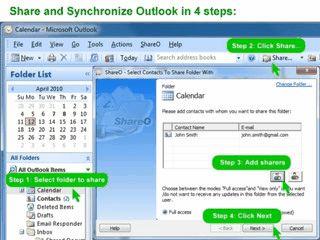Gleichzeitige Benutzung und Synchronisierung von MS Outlook Ordnern.
