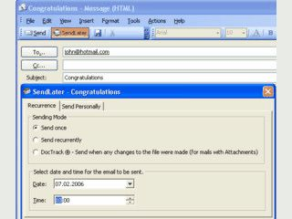 Automatischer, zeitgesteuerter Versand von Emails aus MS Outlook