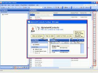 MS Outlook Plugin zur schnellen Filterung der Kontakte.