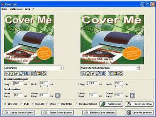 Cover Me ist ein Tool zum Drucken, Gestalten und Suchen von Covern aller Art!