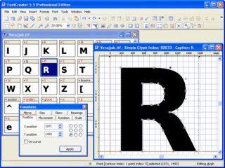 Editor zum Bearbeiten und Erstellen von TrueType-Schriften