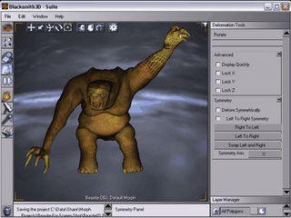 Software zur Erstellung und Bearbeitung von 3D Modellen und Charakteren