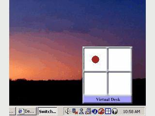 Bis zu acht virtuelle Desktops werden Ihnen zur Verfügung gestellt.