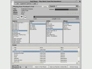 Mit diesem Player können Sie die Dateien vom iPod abspielen.
