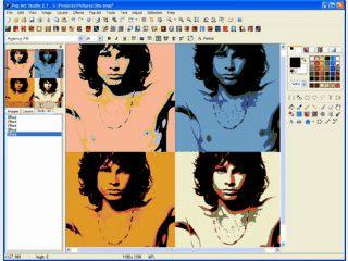 Pop Art Effekte im Stile von Andy Warhol und Roy Lichtenstein.