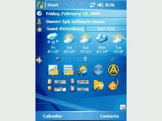 Plugin für den Heute Bildschirm zur Anzeige von Wetterinformationen.