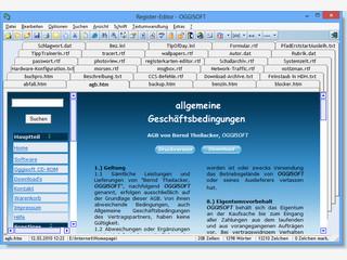 Editor für TXT, RTF und HTML-Dateien mit Vorschau.