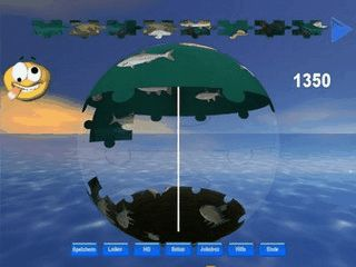 Puzzle bei dem Sie die Spielfläche in 3 Dimensionen bewegen können.