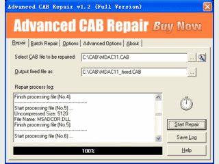Tool zur Reparatur von defekten CAB-Dateien.