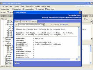 Übernimmt  Kontaktdaten aus versch. Quellen automatisch in MS Outlook.