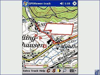 GPS Navi für PocketPC, Rad- Wandern mit Karte oder Luftbild, Kompass
