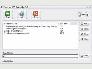 Konvertiert Google Videos aus dem Format GVI in das AVI Format.