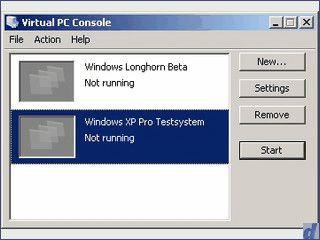 Virtualisierung von Computern mit Windows OS.